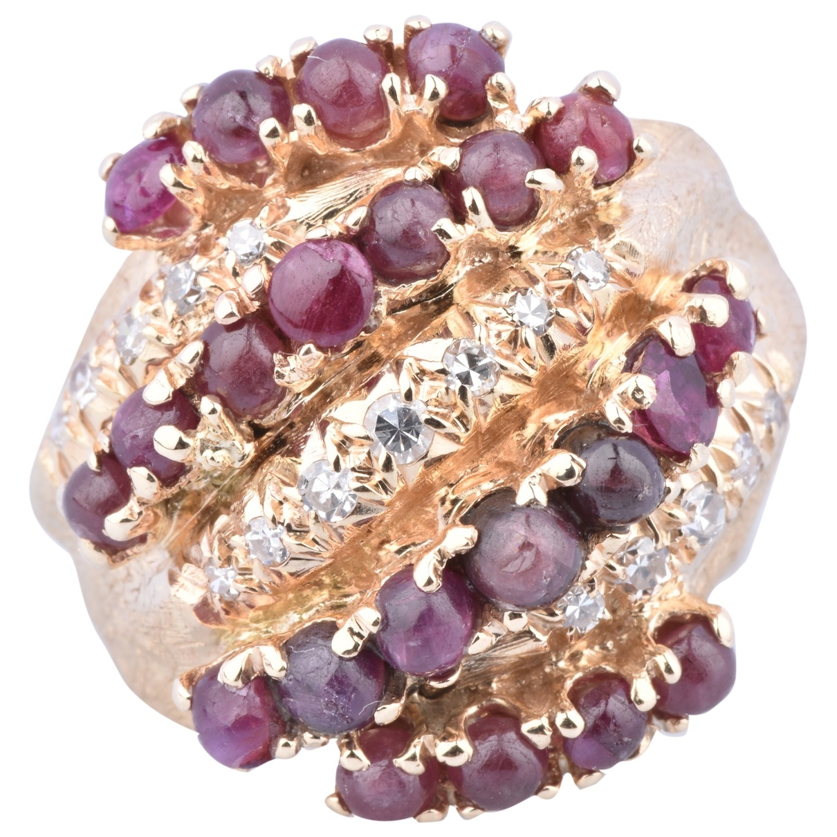 Non Signé / Unsigned Rubis Red Yellow gold ring for Women \N