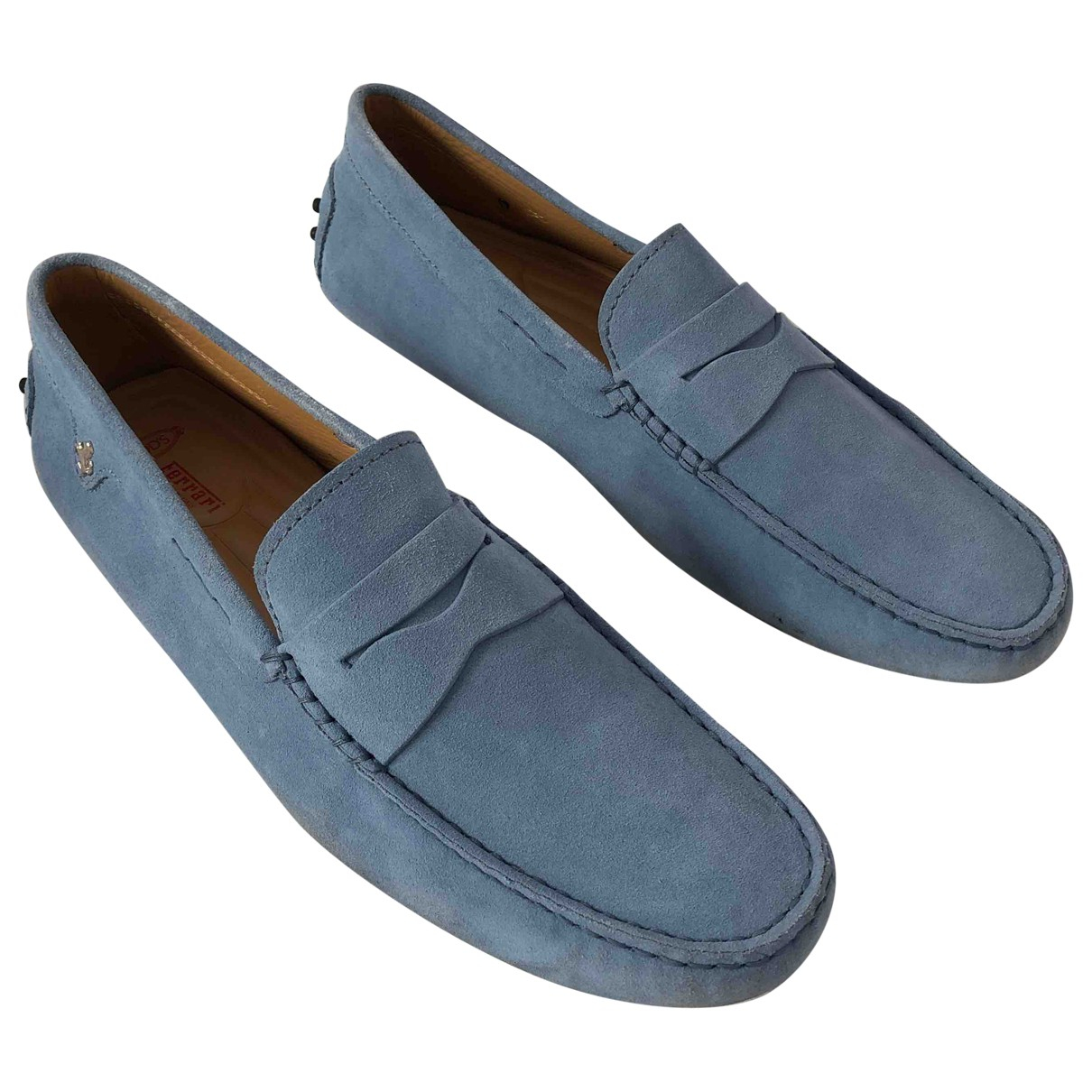 Tod's Gommino Blue Suede Flats for Men 9 UK