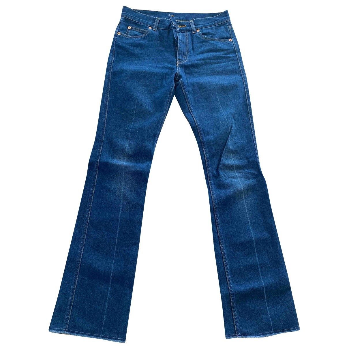 Gucci \N Blue Cotton Jeans for Women 23 US