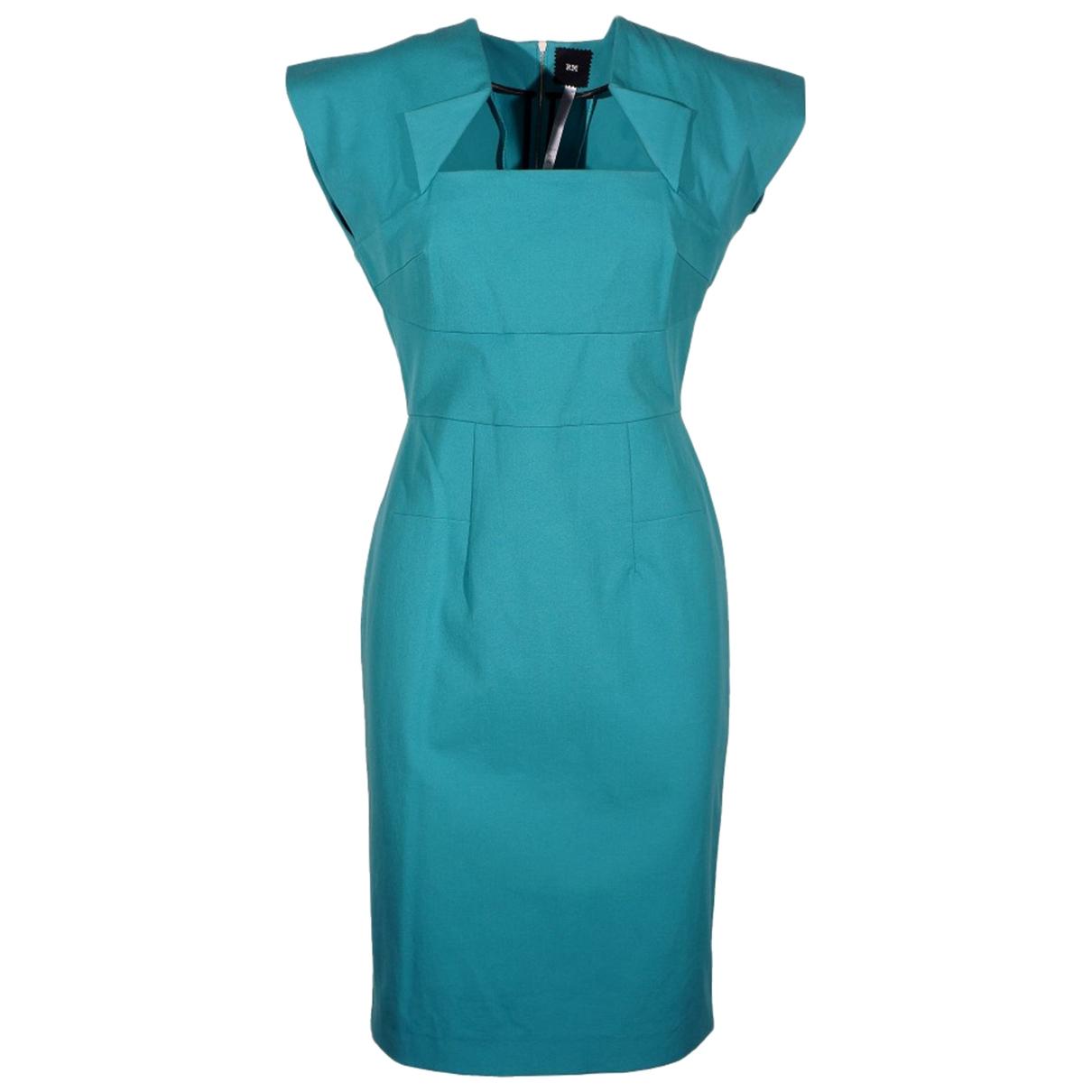 Roland Mouret \N Kleid in  Blau Baumwolle