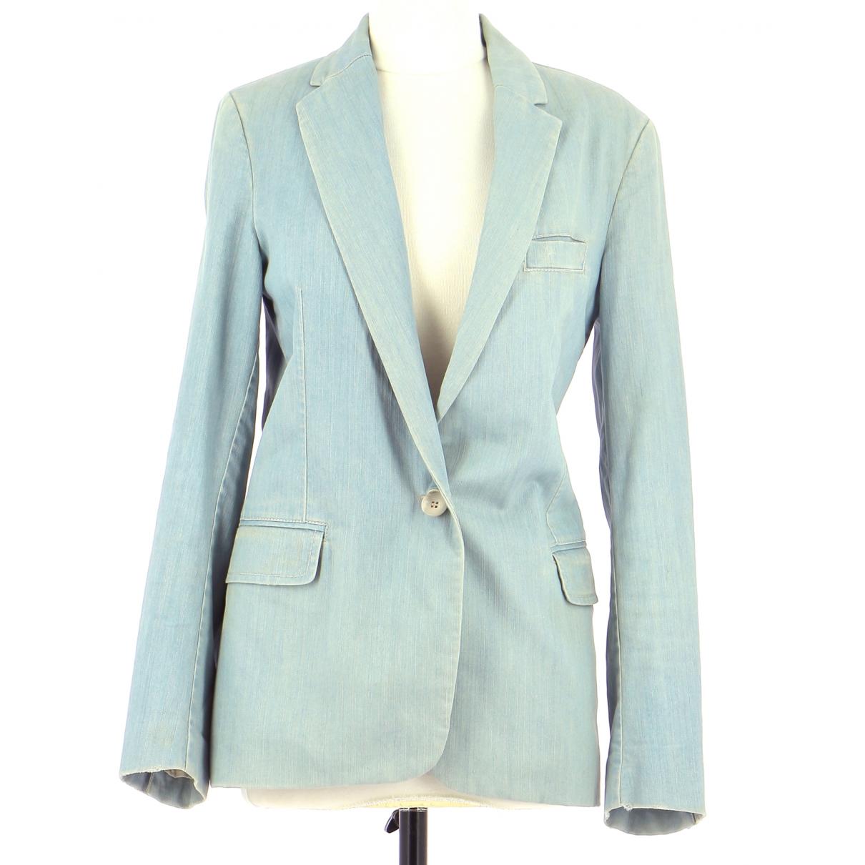 Maje - Veste   pour femme en coton - bleu