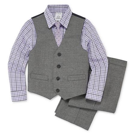 Van Heusen Little & Big Boys 4-pc. Suit Set, 6 , Gray