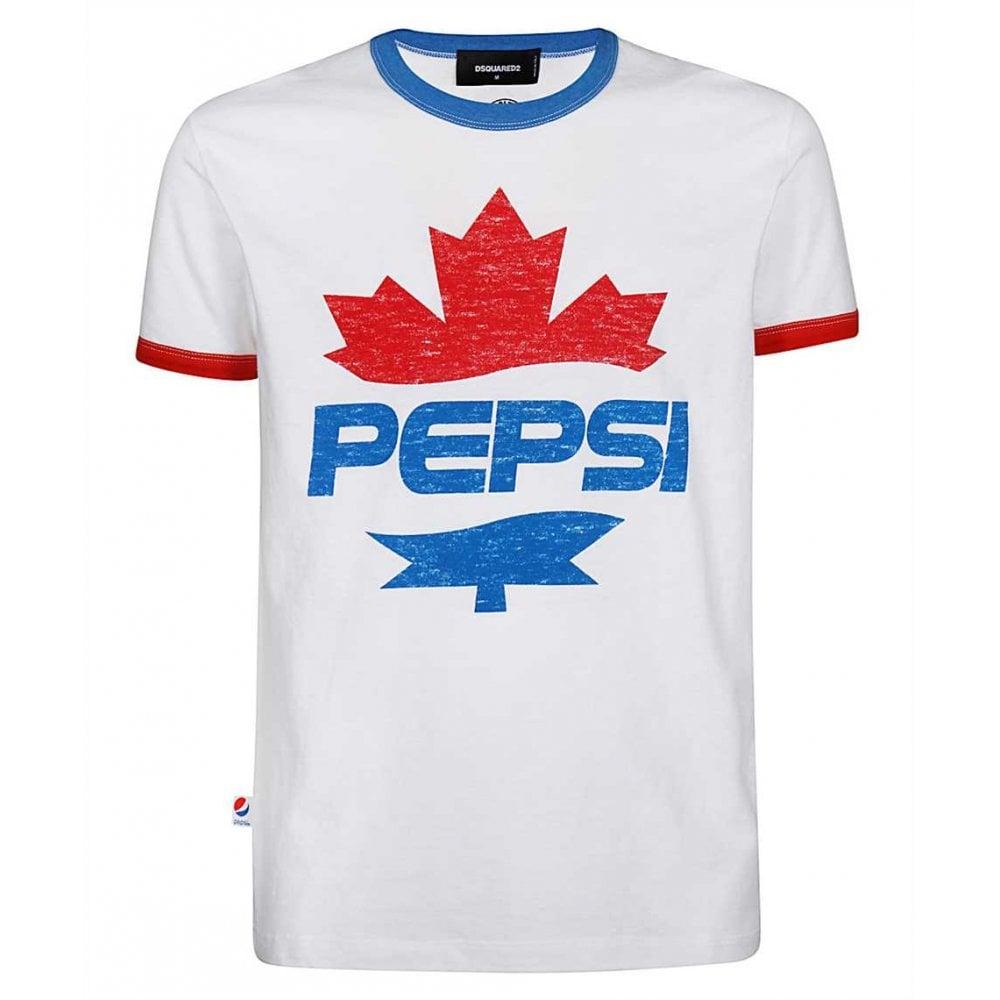Dsquared2  X Pepsi T-shirt Colour: WHITE, Size: EXTRA LARGE