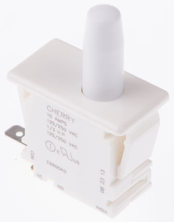 ZF Single Pole Double Throw (SPDT) Push Button Switch, 10 A @ 250 V ac