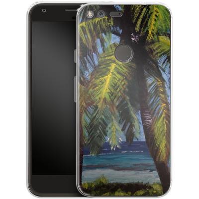 Google Pixel XL Silikon Handyhuelle - Palms von Kaitlyn Parker