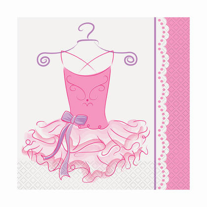 Pink Ballerina Luncheon Napkins, 16ct For Birthday Party