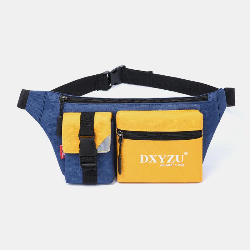 Men Patchwork Waterproof Casual Crossbody Bag Chest Bag