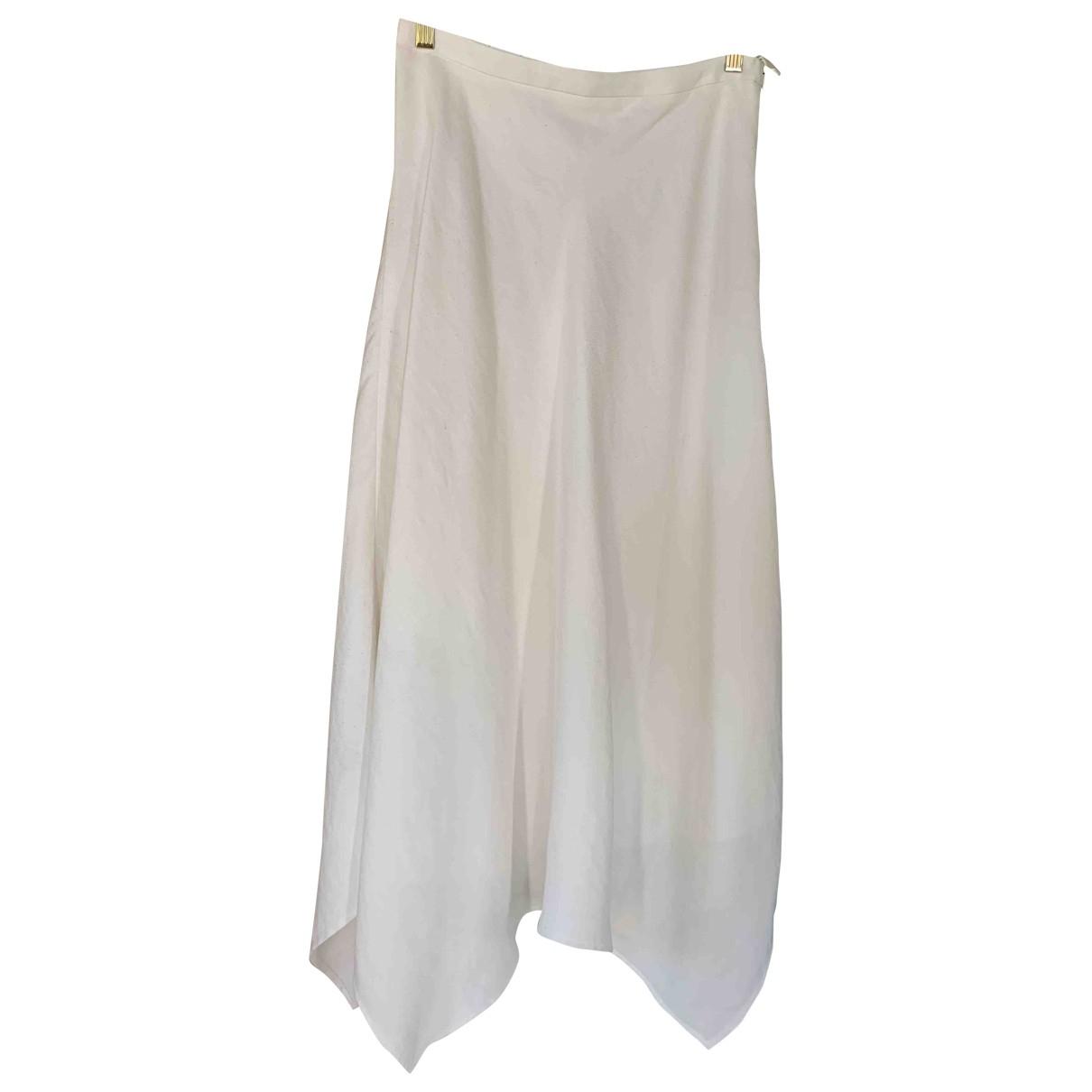 Massimo Dutti \N White skirt for Women 14 UK