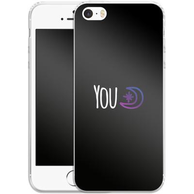 Apple iPhone 5 Silikon Handyhuelle - You Moon von caseable Designs