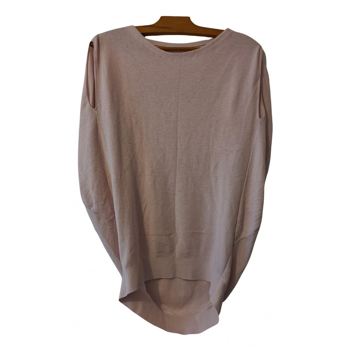 Hermes - Pull   pour femme en coton - rose