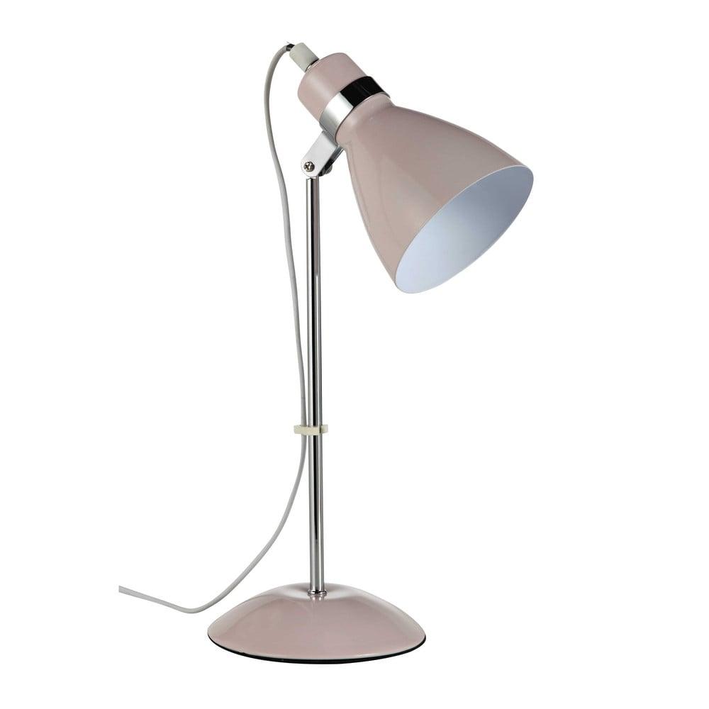 Schreibtischlampe aus rosa Metall