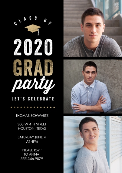 Graduation Invitations 5x7 Cards, Premium Cardstock 120lb with Rounded Corners, Card & Stationery -2020 Grad Party Celebrate Memories