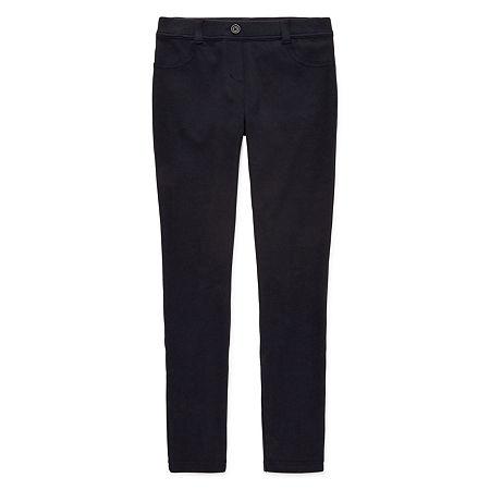 IZOD Stretch Fabric Little & Big Girls Pull-On Pants, 16 , Blue