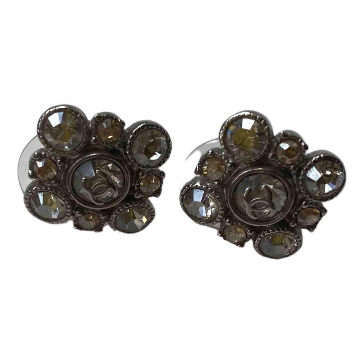 Chanel - Boucles doreilles   pour femme en metal - metallise