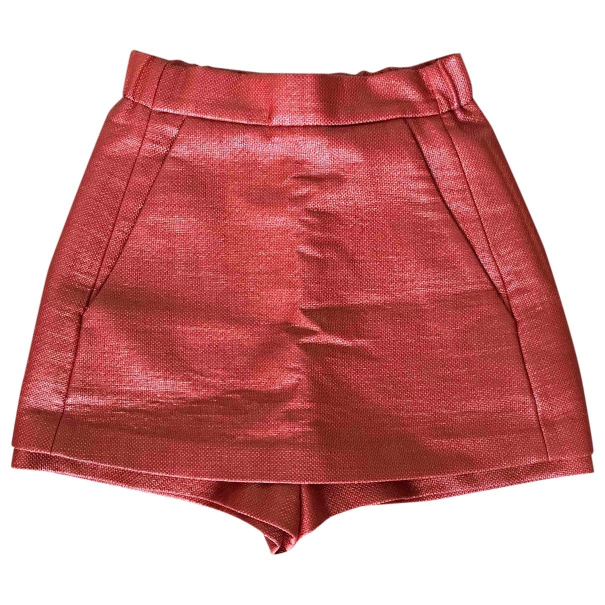 Maje \N Shorts in  Orange Synthetik
