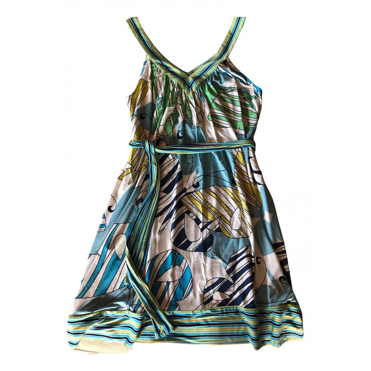 Bcbg Max Azria \N Blue Cotton - elasthane dress for Women S International