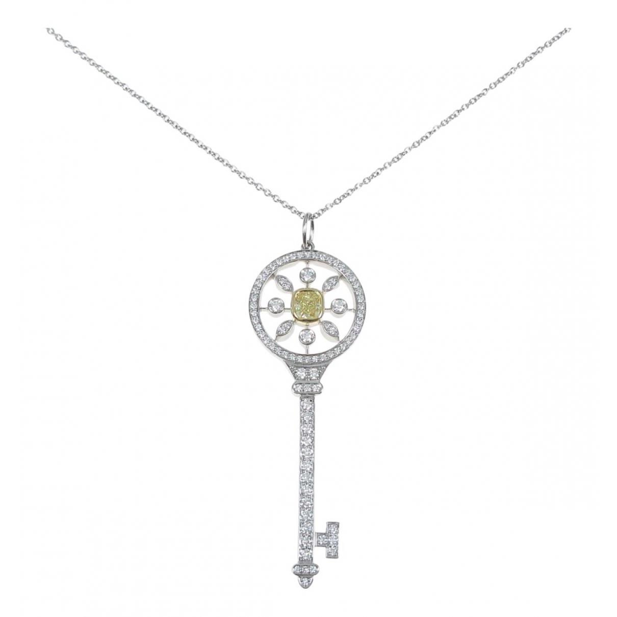 Tiffany & Co - Collier Cles Tiffany pour femme en platine - argente