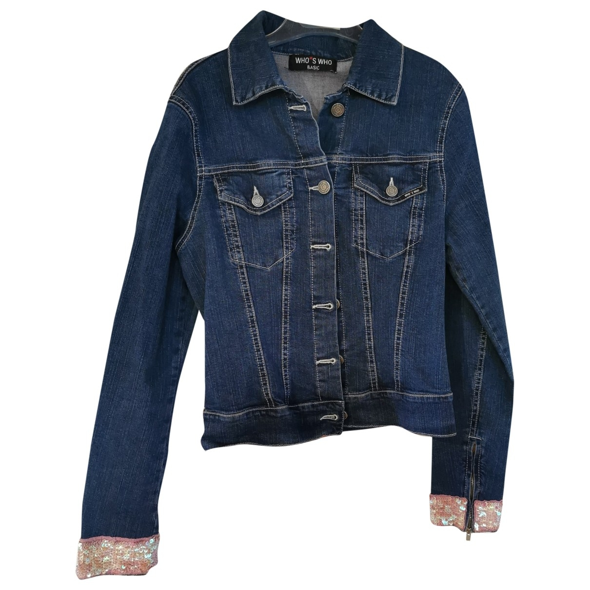 Non Signé / Unsigned \N Blue Denim - Jeans jacket for Women S International