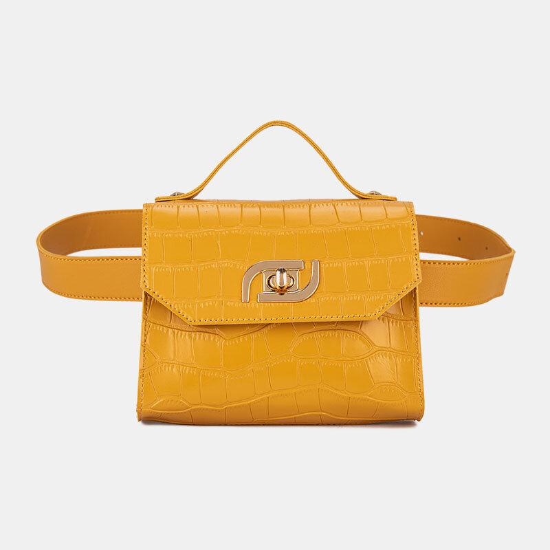 Women Multi-carry Alligator Waist Bag Handbag Sling Bag