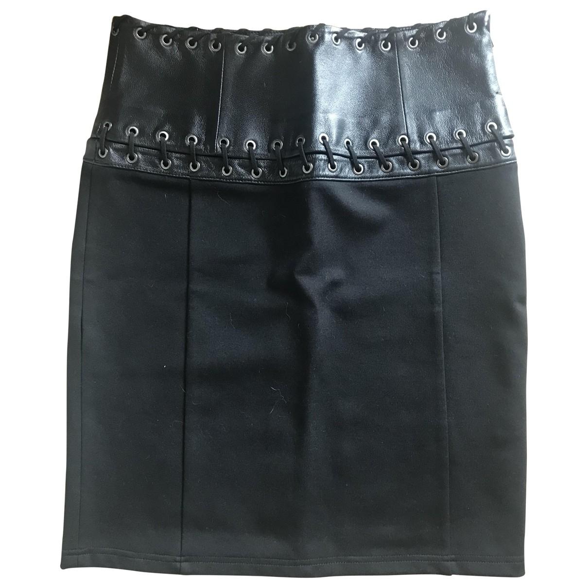 Mini falda de Cuero Pierre Balmain