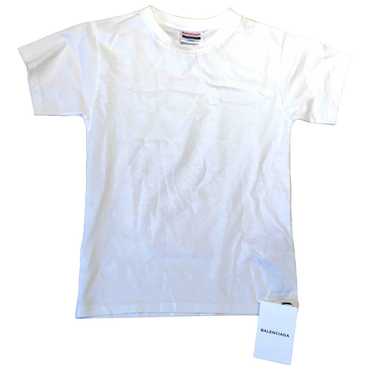 Balenciaga \N White Cotton  top for Kids 14 years - S FR