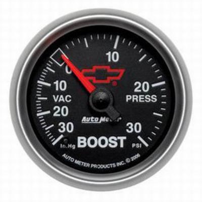 Auto Meter GM Series Electric Boost/Vacuum Gauge, Black - AMG3659-00406