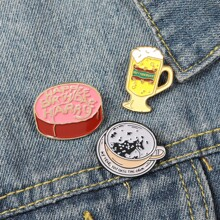 3pcs Coffee & Cake Design Brooch