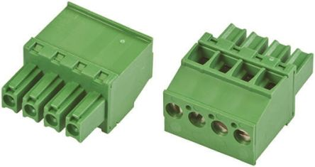 TE Connectivity Non-Fused Terminal Block, 4 Way/Pole, Screw Down Terminals, 30 → 14 AWG Cable Mount, Nylon, 300 V
