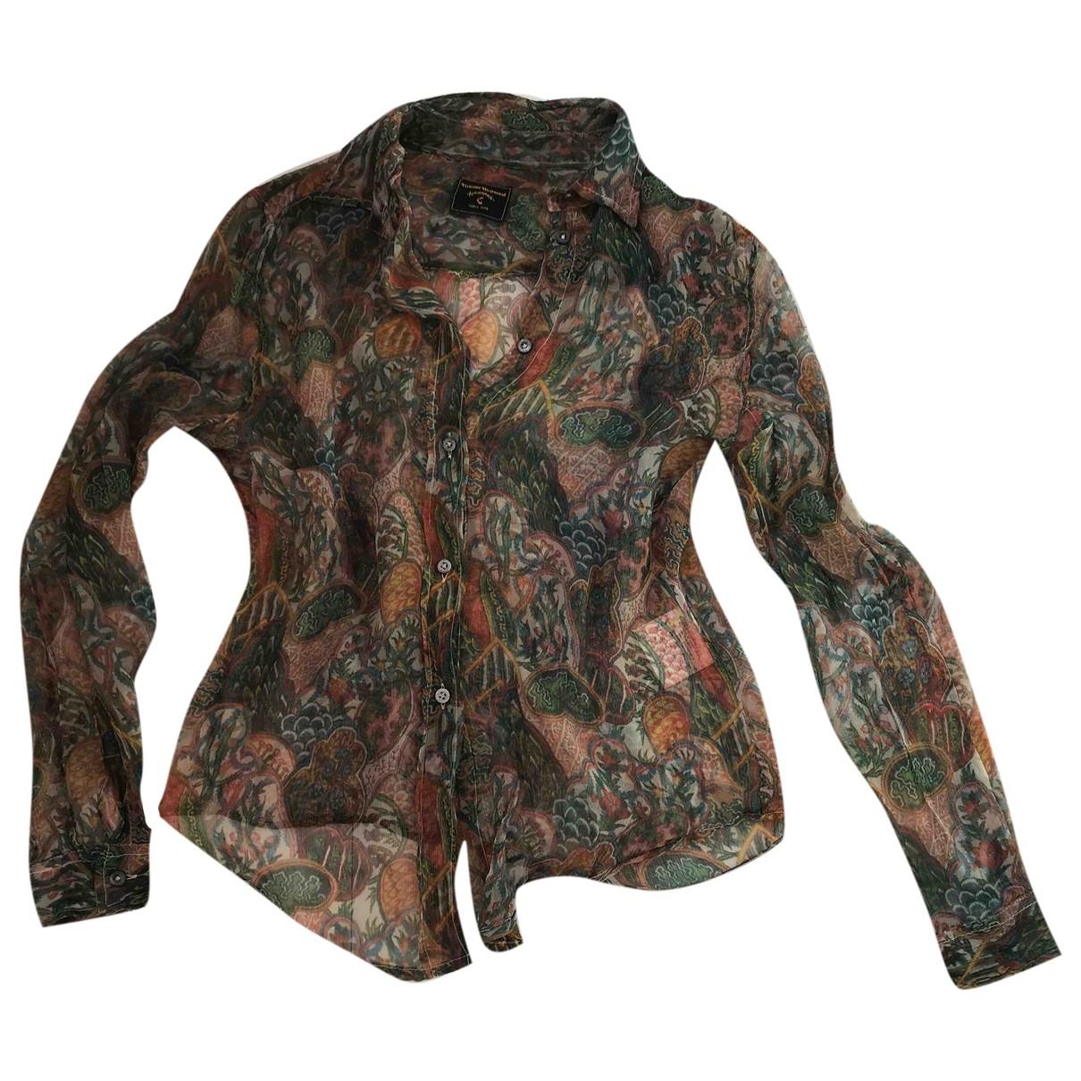 Vivienne Westwood Anglomania - Top   pour femme en soie - multicolore