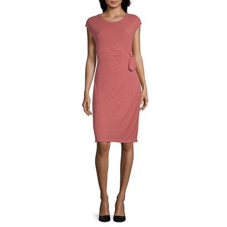 Liz Claiborne Studio Short Sleeve A-Line Dress, Xx-large , Pink
