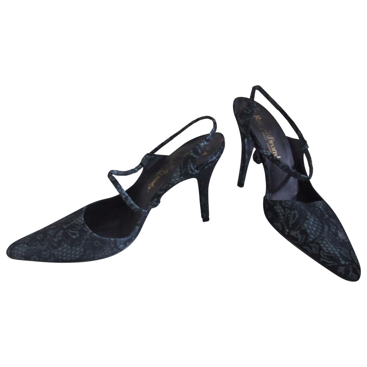 Russell & Bromley - Sandales   pour femme en toile - noir