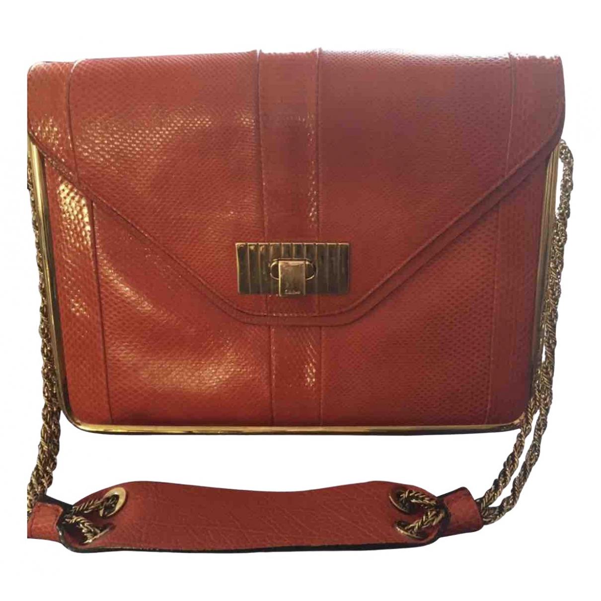Chloé Sally Red Python handbag for Women \N