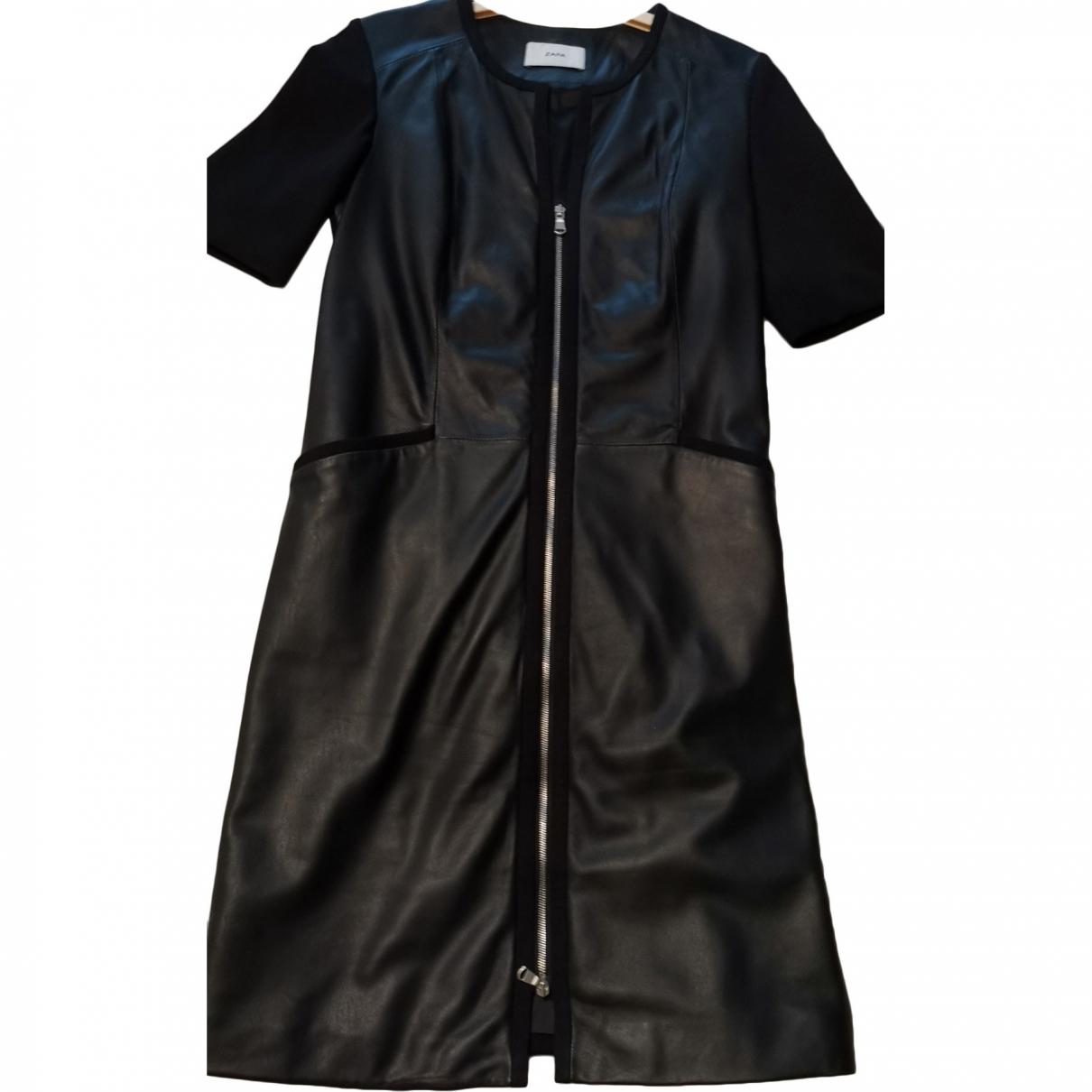 Zapa \N Black Leather dress for Women 36 FR