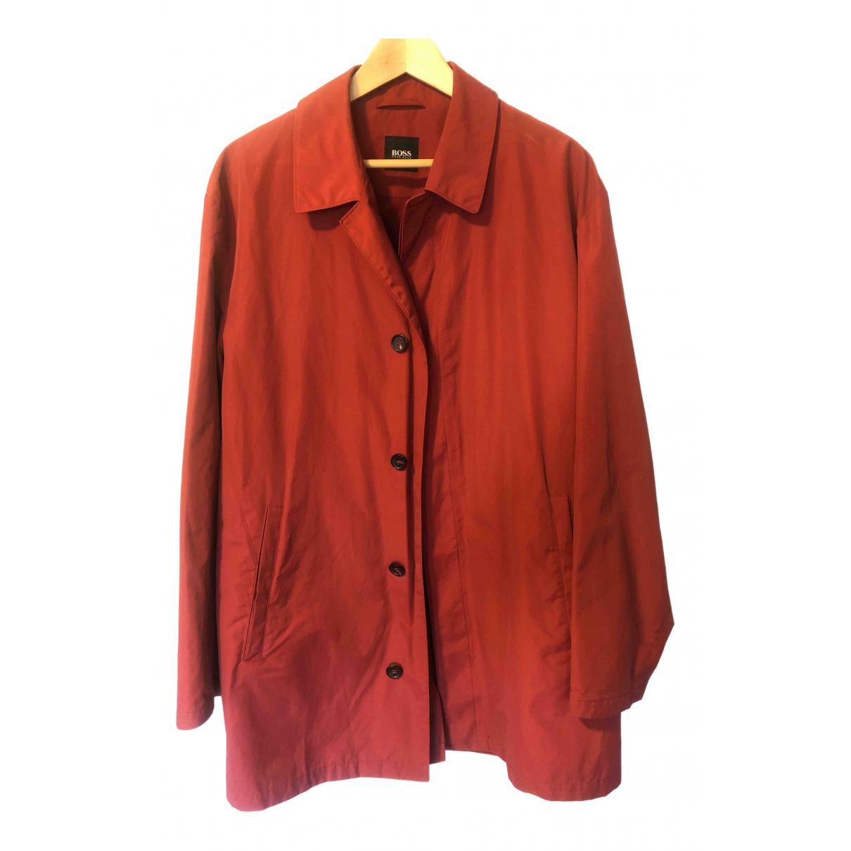 Boss - Manteau   pour homme en coton - rouge