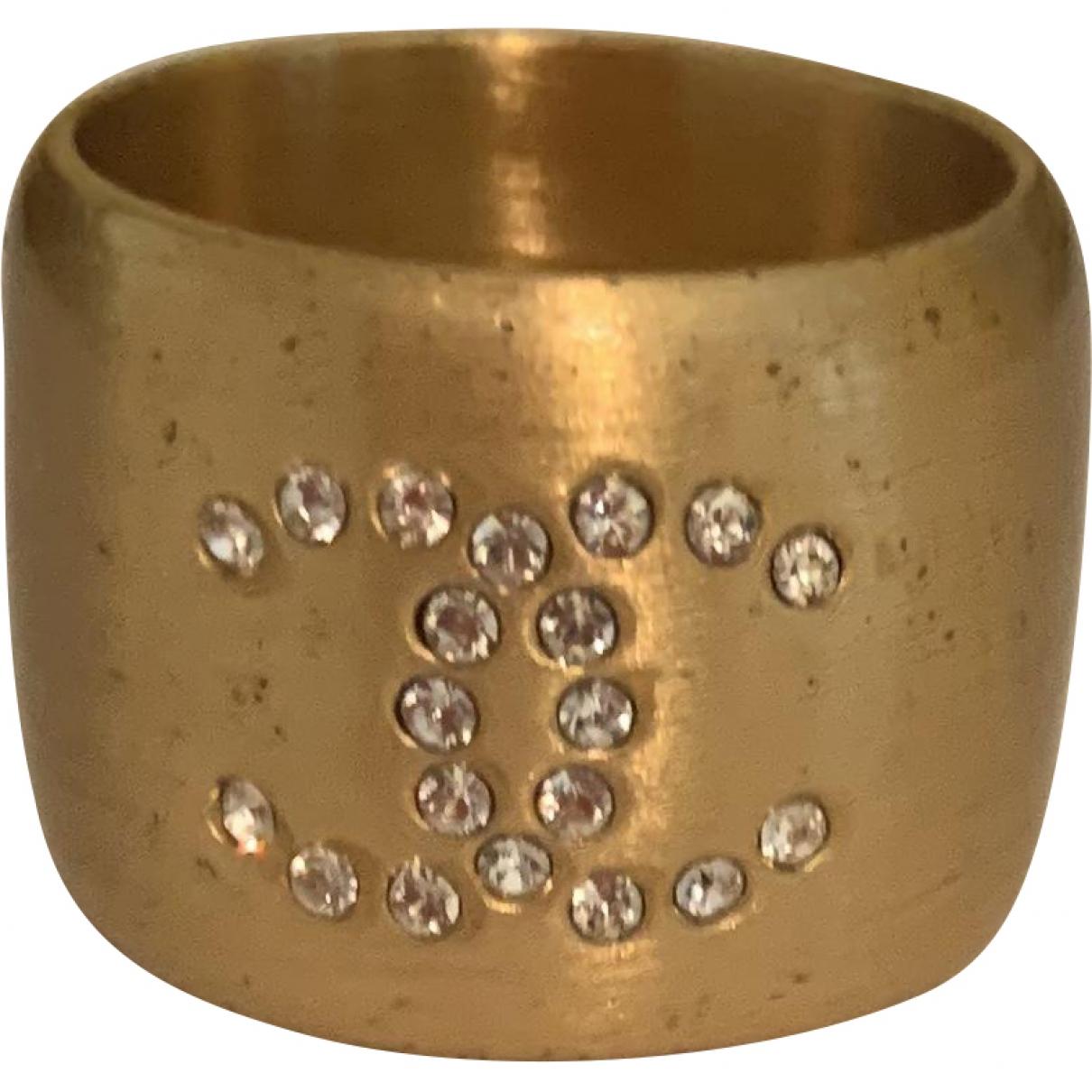 Chanel \N Yellow Metal ring for Women \N