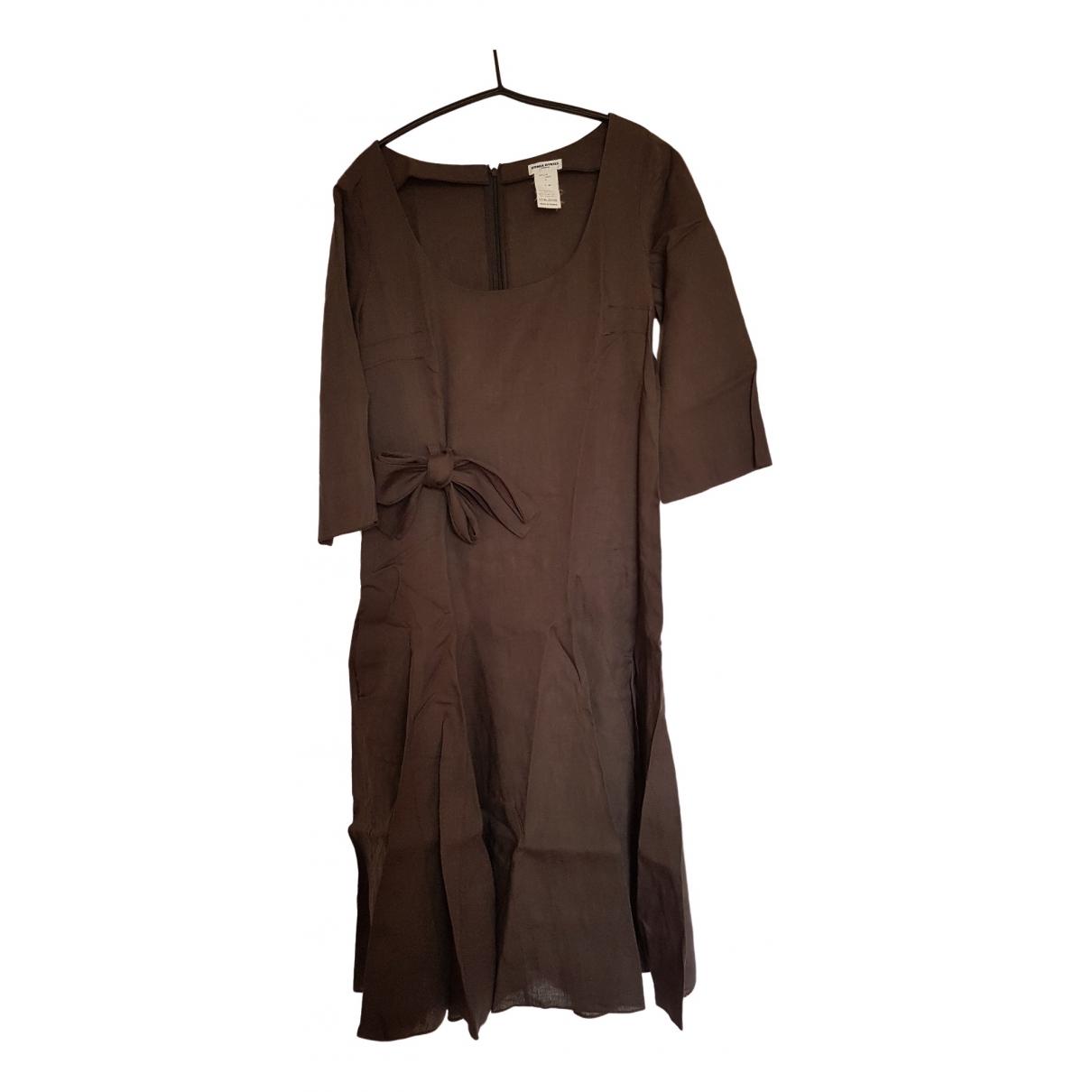 Sonia Rykiel \N Brown Linen dress for Women 44 FR