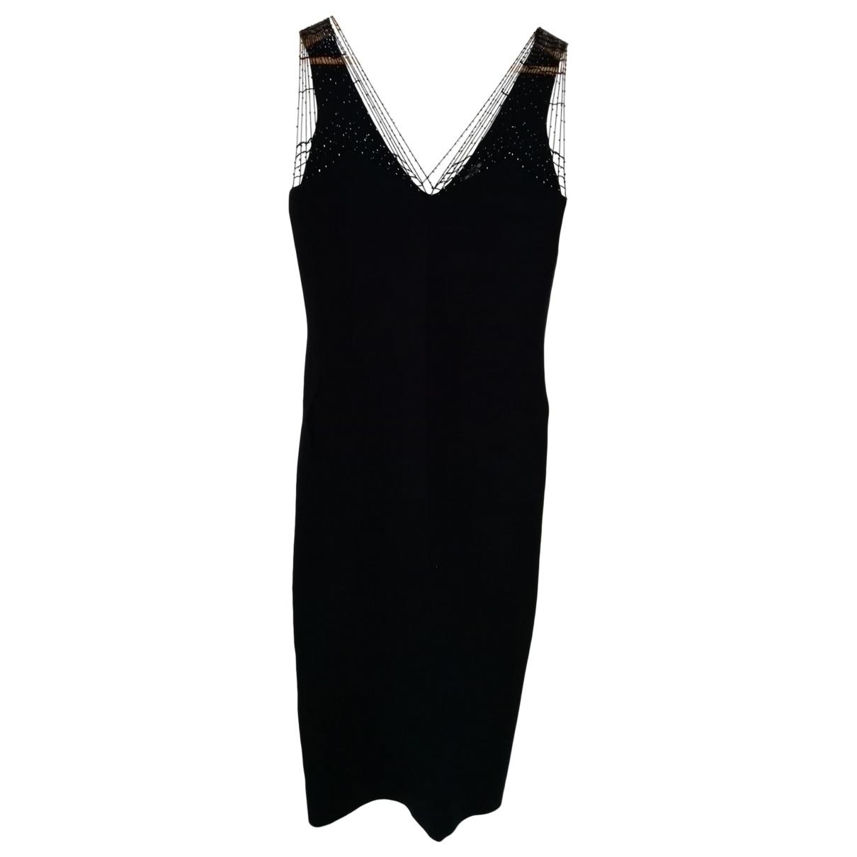 Non Signé / Unsigned \N Black Silk dress for Women 40 FR