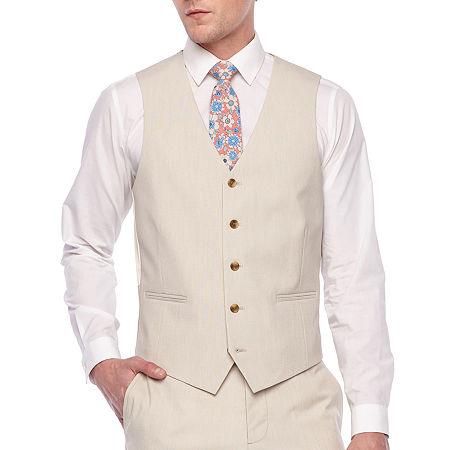 JF J.Ferrar 360 Stretch Mens Stretch Classic Fit Suit Vest - Big and Tall, 3x-large , Beige