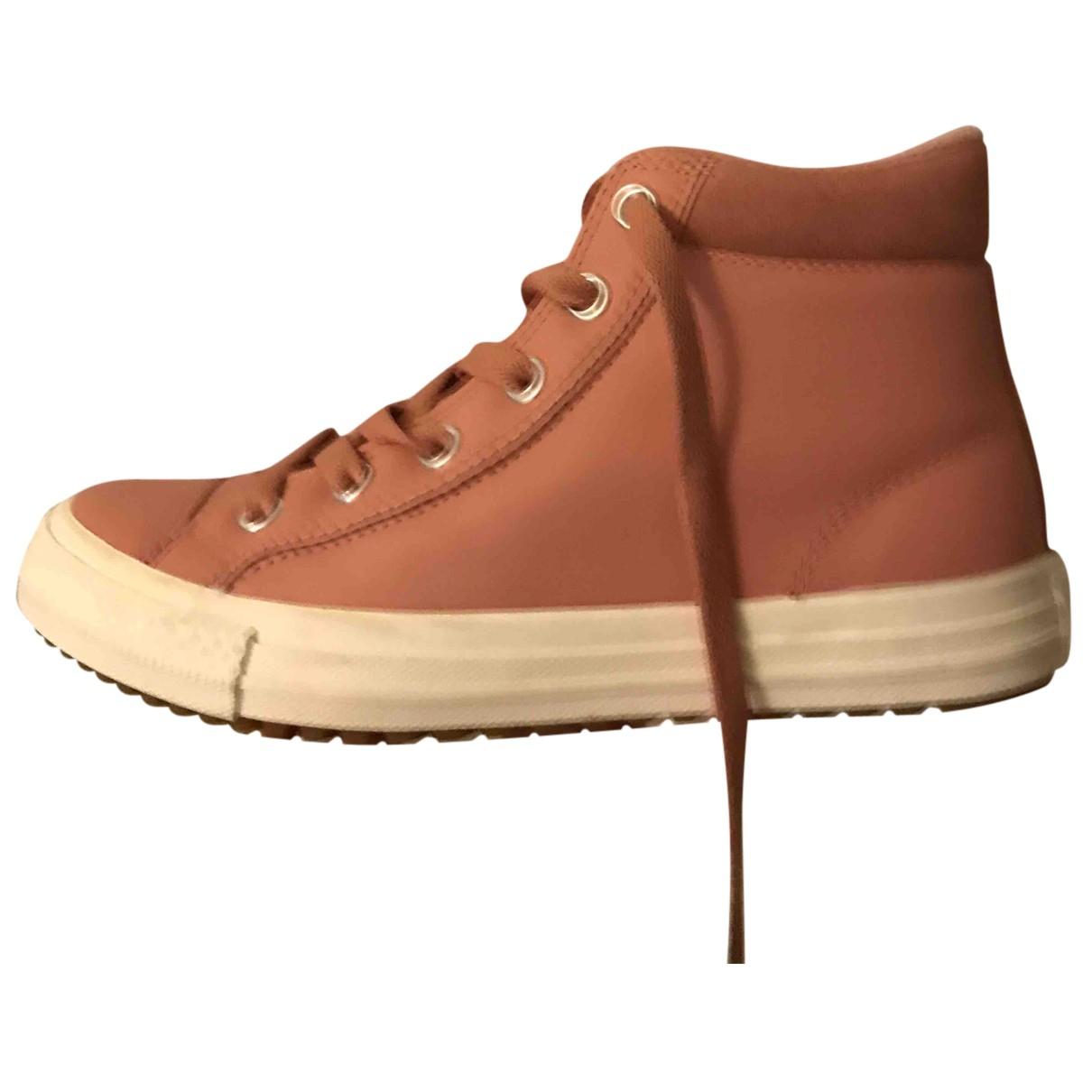 Converse \N Sneakers in  Rosa Leder