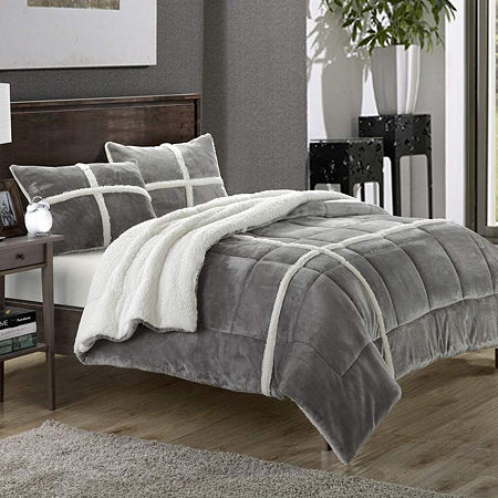 Chic Home Chloe New 7-pc. Midweight Comforter Set, One Size , Silver