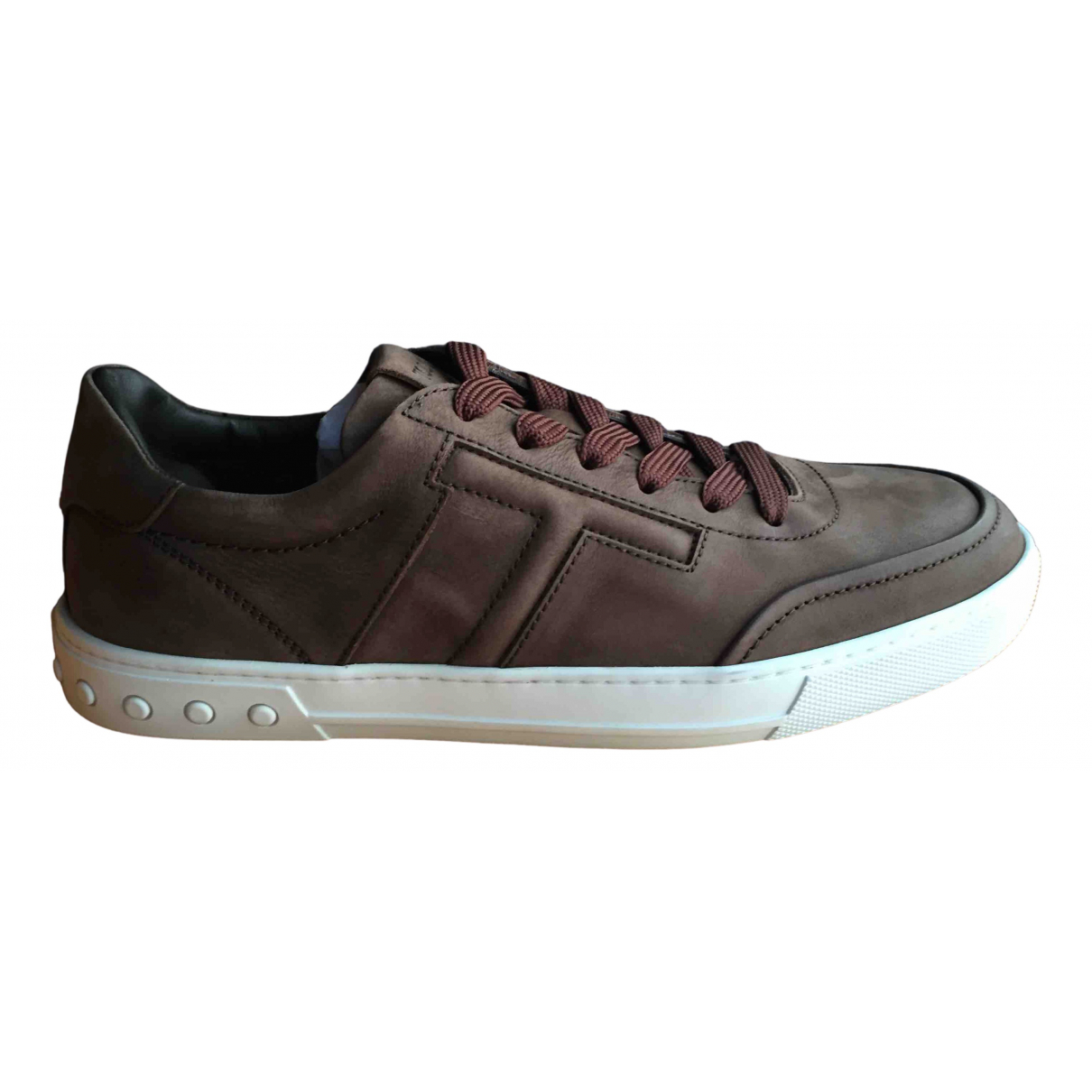 Tod's \N Brown Suede Trainers for Men 7 UK