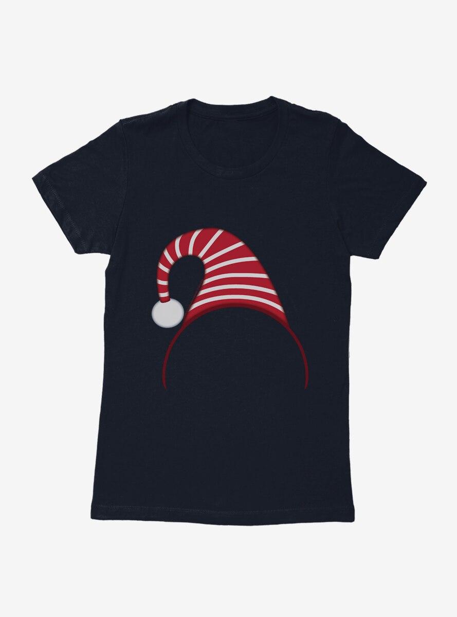 Emoji Holiday Icons Elf Headband Womens T-Shirt