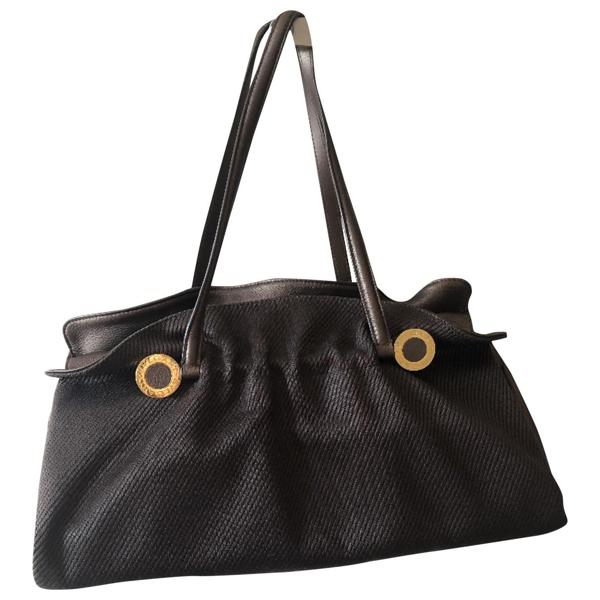 Bvlgari \N Handtasche in  Braun Leder