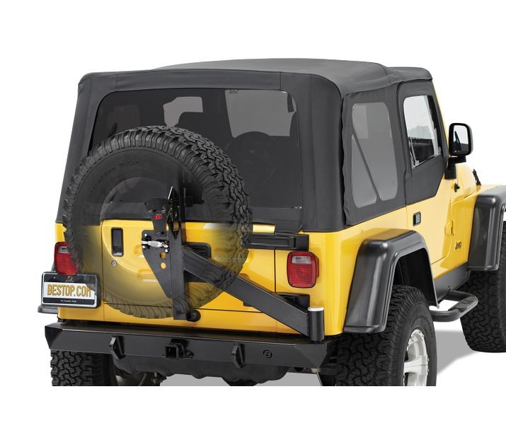 Bestop 44931-01 Matte Black HighRock 4x4 Rear Bumper w/ Tire Carrier Jeep Wrangler 1997-2006