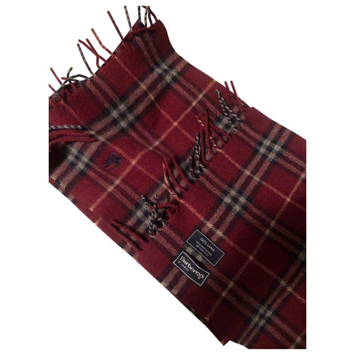 Burberry \N Red Wool scarf for Women \N