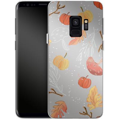Samsung Galaxy S9 Silikon Handyhuelle - Fall Woodland Grey von Mukta Lata Barua