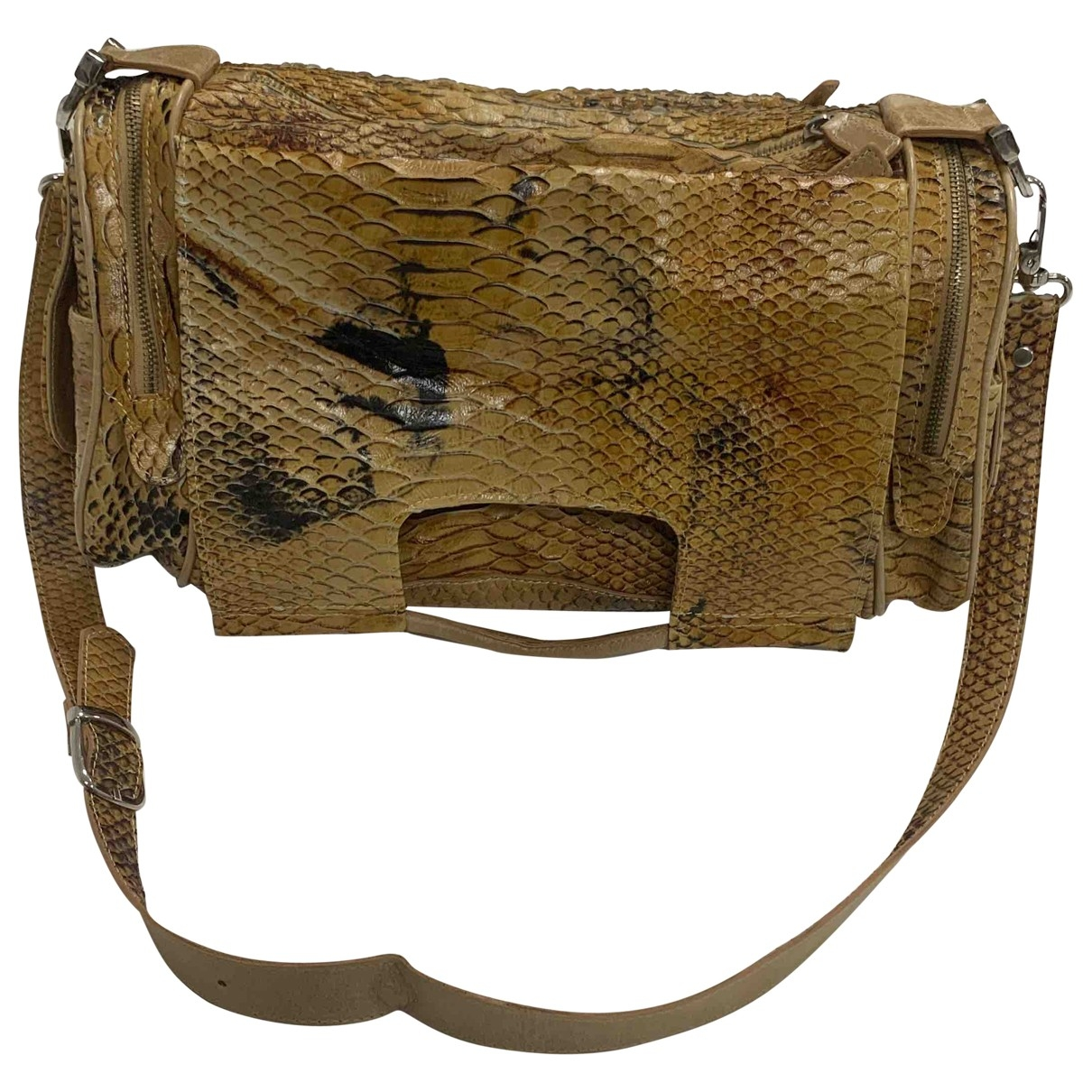 Non Signe / Unsigned \N Handtasche in  Beige Exotenleder