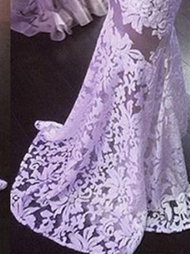 Ericdress Illusion Neckline Sheath Lace Wedding Dress