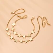 2pcs Geometric Star Decor Jewelry Set