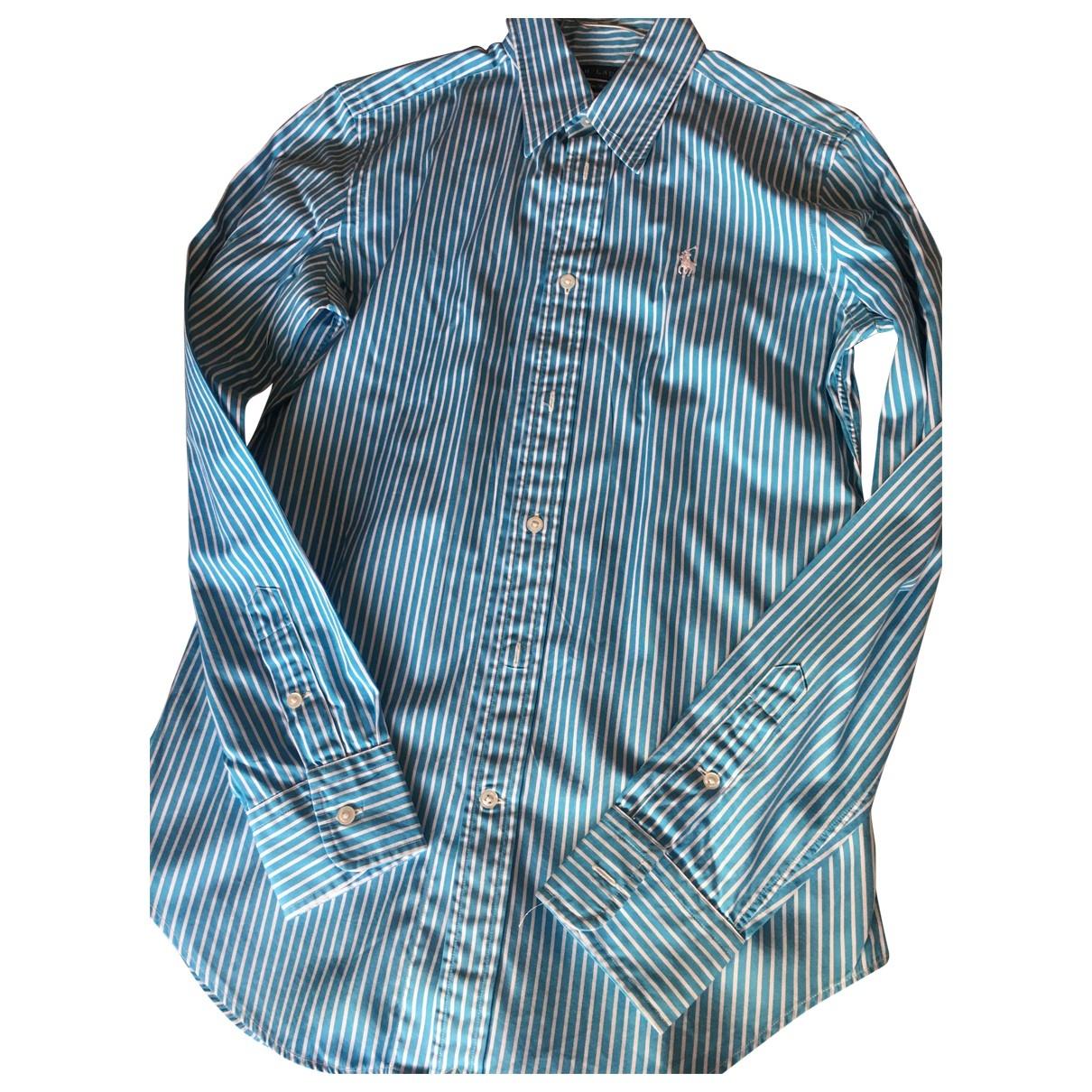 Ralph Lauren - Top   pour femme en coton - turquoise
